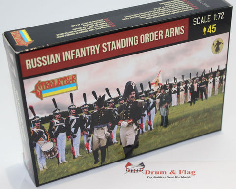 Strelets 217 Napoleonic Russian Infantry Standing Order Arms. 1/72 Scale.