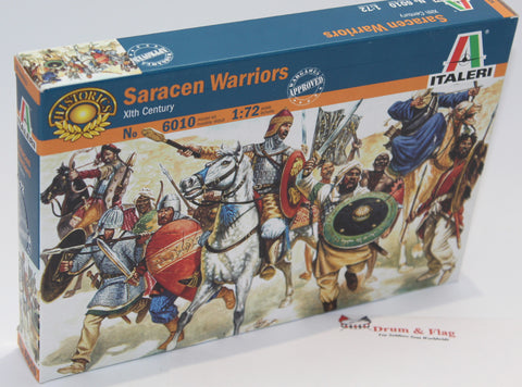 Italeri Set #6010 Saracen Warriors x 6 sets. XI Century. 1/72 Scale