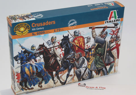 ITALERI 6009 CRUSADERS / MEDIEVAL KNIGHTS. 1/72 SCALE