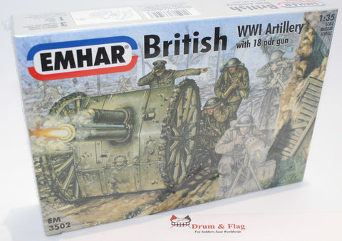 EMHAR 3502. British WW1 Artillery 1:35 Scale Figures