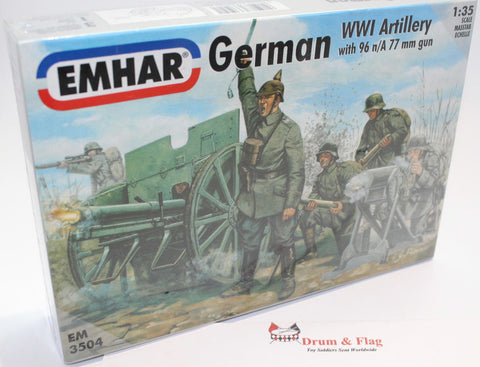 EMHAR 3504. German WW1 Artillery 1:35 Scale Figures