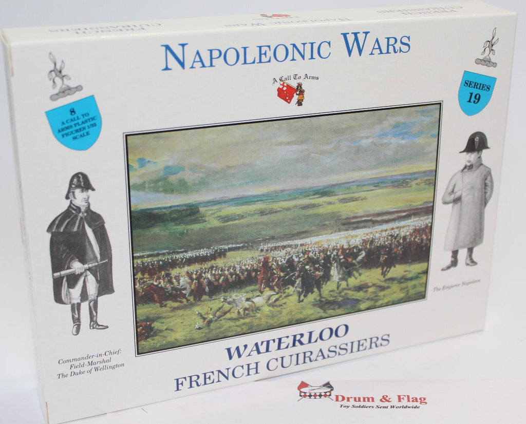 A CALL TO ARMS 19 NAPOLEONIC WATERLOO FRENCH CUIRASSIERS. 1/32 SCALE CAVALRY
