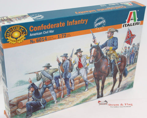 ITALERI 6014. CONFEDERATE INFANTRY. AMERICAN CIVIL WAR. 1:72 SCALE CONFEDERATES x