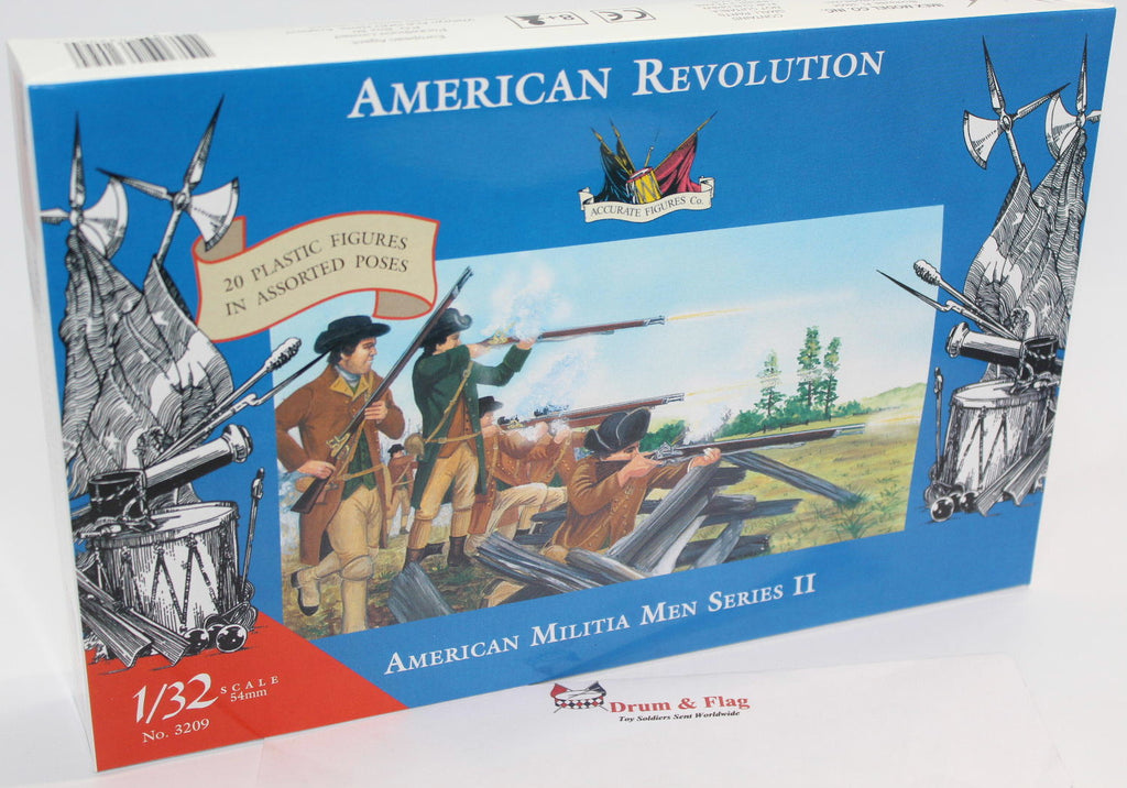 ACCURATE 3209 AMERICAN MILITIA MEN II - WAR OF INDEPENDENCE - 1:32 SCALE (54mm)