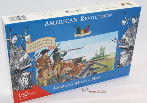 ACCURATE 3201 AMERICAN MILITIA MEN SET #1 - WAR OF INDEPENDENCE - 1:32 SCALE (54mm)