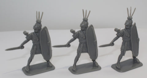 HaT - ROMAN TRIARII X 3 - PUNIC WARS - 54MM - 1/32 SCALE. (SET B)