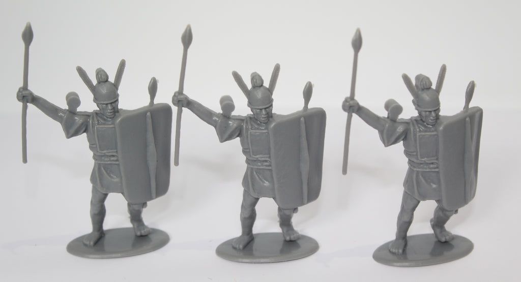 HaT - ITALIAN ALLIES INFANTY X 3 - PUNIC WARS - 54MM - 1/32 SCALE. GRAY PLASTIC