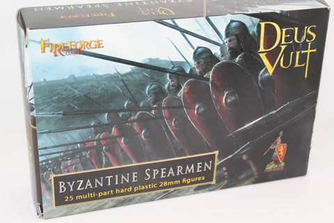 FIREFORGE GAMES - BYZANTINE SPEARMEN- 25 multi-part hard plastic 28mm figures.