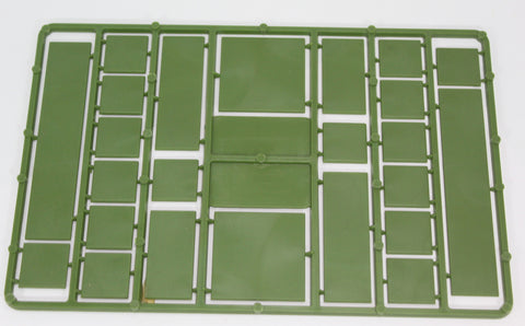 Renedra - Mixed Size Base Sprue. 28mm Hard Plastic. Green