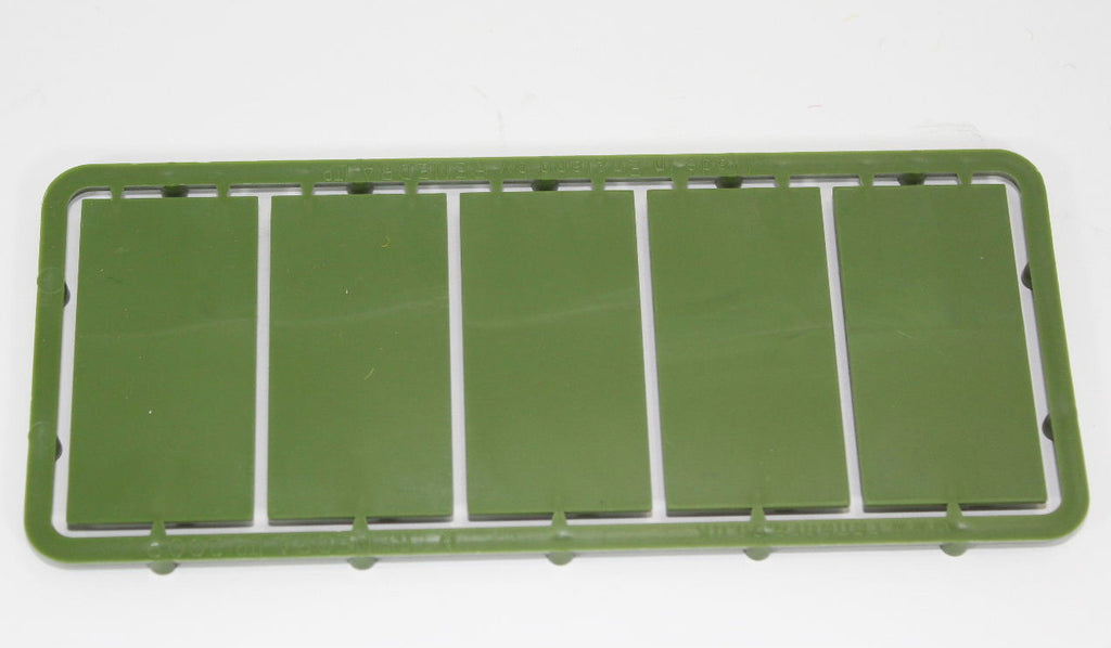 Renedra - 50mm x 25mm Bases Sprue. 28mm Hard Plastic. Green. 5 bases in total.
