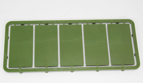 Renedra - 50mm x 25mm Bases Sprue. 28mm Hard Plastic. Green