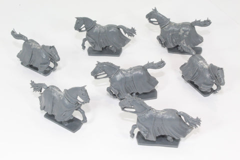 Fireforge Games - Knight's Horses x 7. Plastic. Used / Damaged