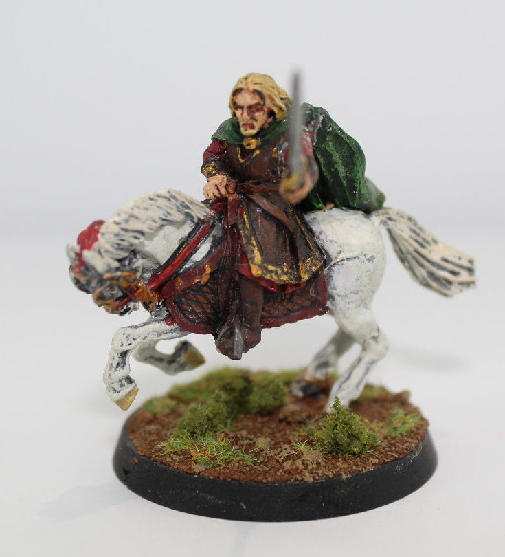 THEODEN of ROHAN MOUNTED - METAL - PAINTED - LOTR - GAMES WORKSHOP. (df2.1)