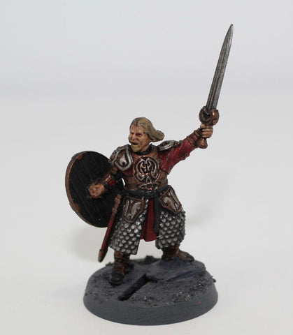 THEODEN of ROHAN ON FOOT - PLASTIC - PAINTED - LOTR - GAMES WORKSHOP. (df2.5)