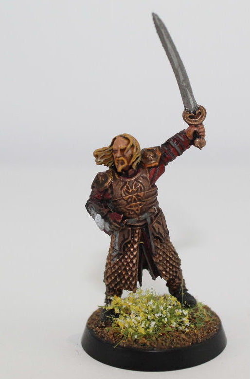 THEODEN of ROHAN ON FOOT -FINECAST - PAINTED - LOTR - GAMES WORKSHOP. (df2.8)