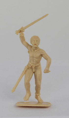 ITALERI - NAKED GAUL WARRIOR - 54MM - 1/32 SCALE - SINGLE FIGURE