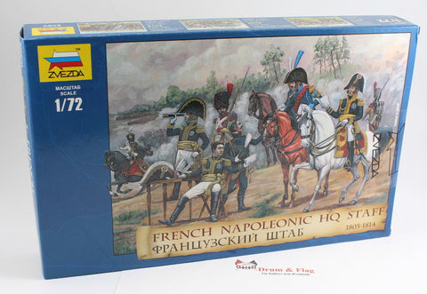 ZVEZDA 8080 FRENCH NAPOLEONIC HQ STAFF 1805-1814. 1/72 SCALE. Berthier etc...