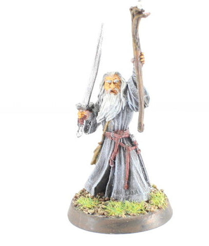GANDALF THE GRAY - METAL - PAINTED - LOTR - GAMES WORKSHOP. (df3.2)