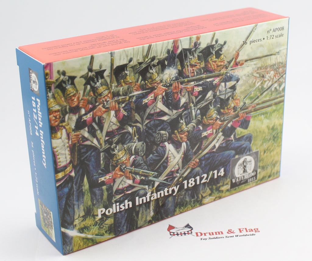 WATERLOO 1815 AP008 NAPOLEONIC POLISH INFANTRY 1/72 POLES. VISTULA LEGION ?