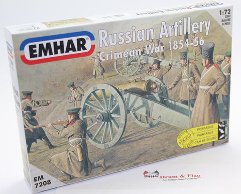 EMHAR 7208 RUSSIAN ARTILLERY - CRIMEAN WAR 1:72 SCALE CRIMEA.