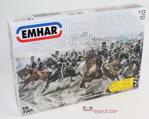 EMHAR 7207 CHARGE OF THE LIGHT BRIGADE CRIMEAN WAR 1:72 CRIMEA. BRITISH CAVALRY