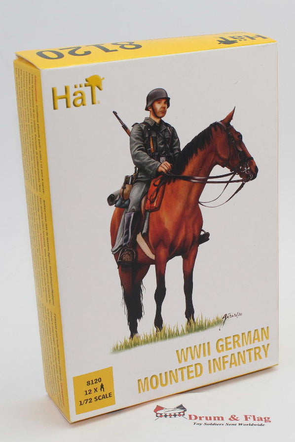 HAT 8120 - WW2 GERMAN MOUNTED INFANTRY - 1/72 SCALE PLASTIC