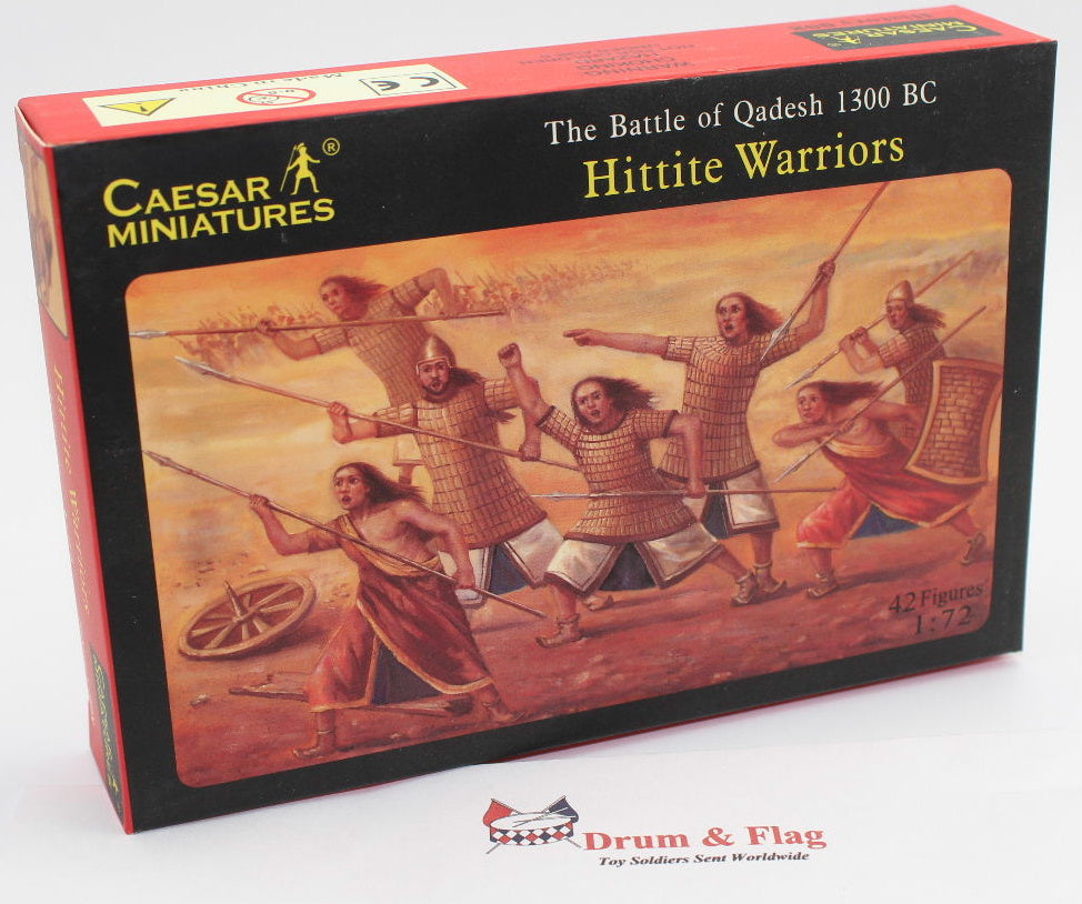CAESAR #8. HITTITE WARRIORS. Battle of Qadesh 1300 BC. 1/72 SCALE PLASTIC
