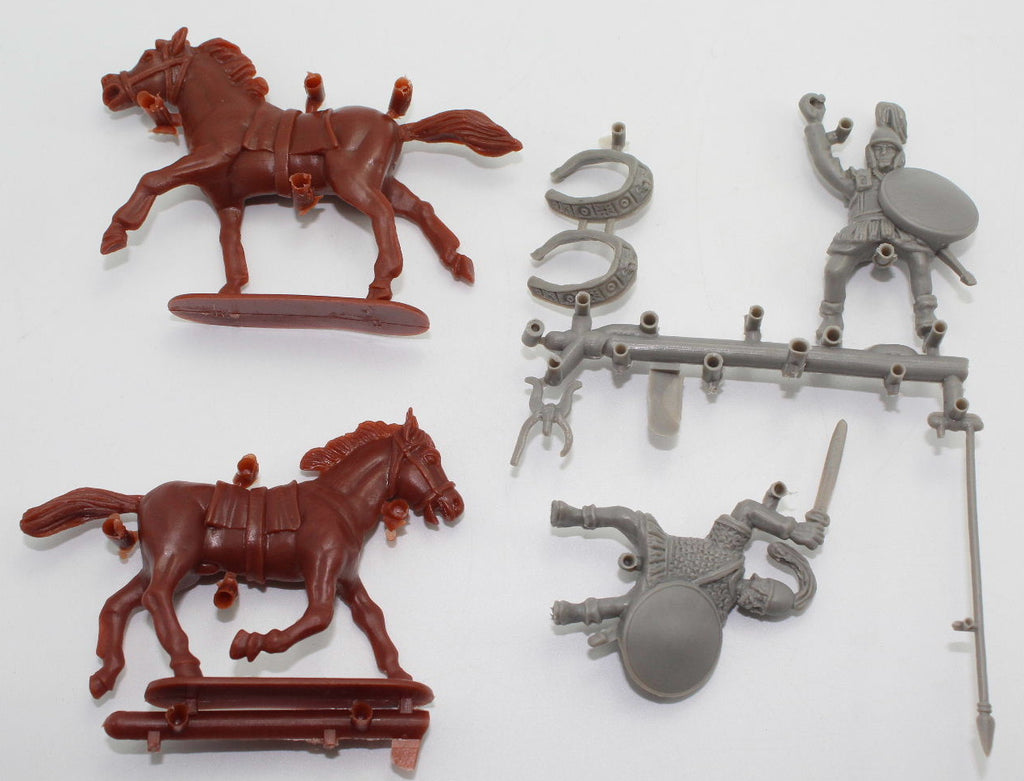 HaT CARTHAGINIAN CAVALRY / COMMAND x2 GRAY PLASTIC.  Riders & Horses. Punic War 1/32 Scale (54mm) - Used Listing