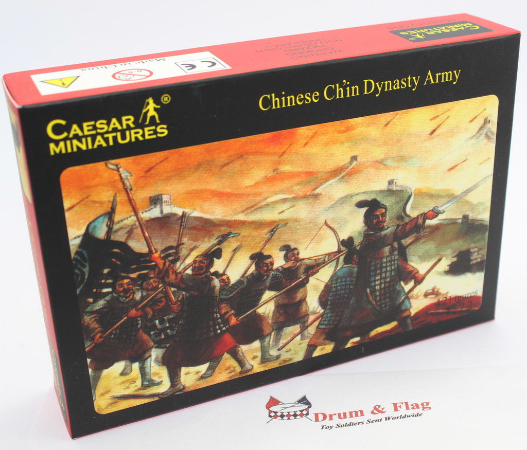 CAESAR Set #04. CHINESE CH'IN DYNASTY ARMY .1/72 Scale Plastic Figures