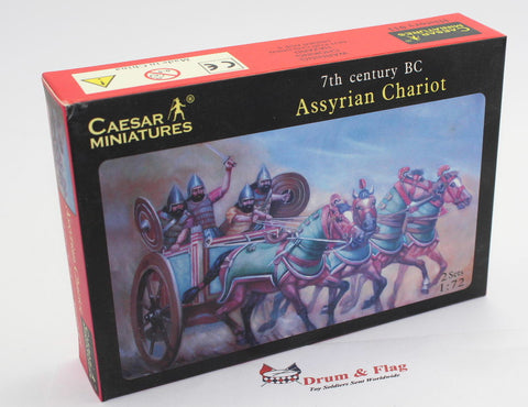 CAESAR SET #11 - ASSYRIAN CHARIOT. 1/72 SCALE PLASTIC ASSYRIANS.
