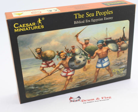 CAESAR SET #48 - THE SEA PEOPLES. 1/72 SCALE PLASTIC. BIBLICAL ERA EGYPTIAN ENEMY