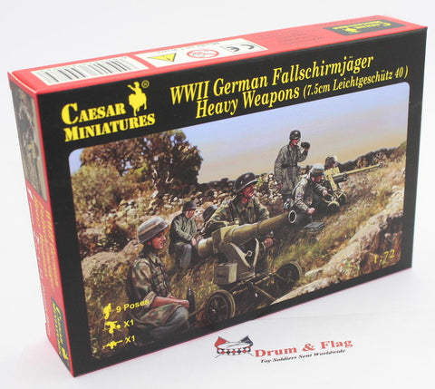 CAESAR SET 98. WWII GERMAN FALLSCHIRMJAGER HEAVY WEAPONS. PARATROOPS. 1/72 Scale