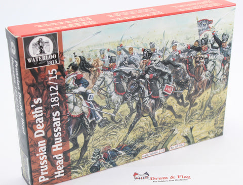 WATERLOO 1815 AP032 PRUSSIAN DEATH'S HEAD HUSSARS 1:72 SCALE NAPOLEONIC CAVALRY