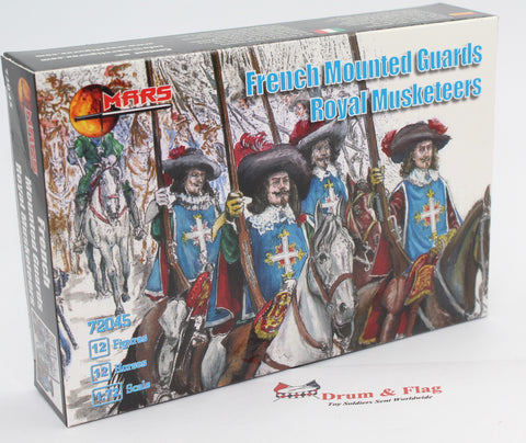 MARS 72045 - French Mounted Guards - Royal Musketeers. TYW. 1/72 Scale