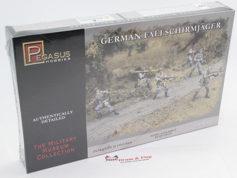 PEGASUS 3204 GERMAN FALLSCHIRMJAGER PARATROOPS 1/32 SCALE 54MM UNPAINTED PLASTIC