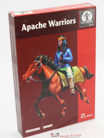 WATERLOO 1815 AP051 APACHE WARRIORS. 1/72 SCALE X 12 MOUNTED FIGURES. APACHES