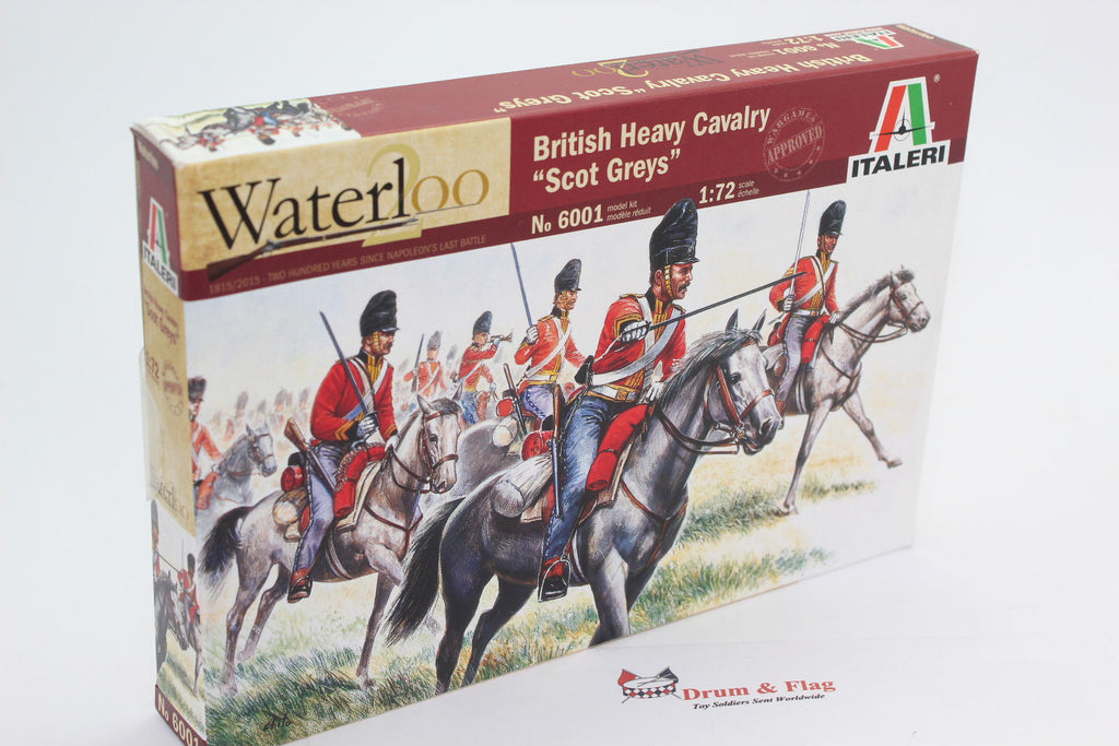 ITALERI 6001. SCOTS GREYS - BRITISH HEAVY CAVALRY. 1/72 Scale Figures.