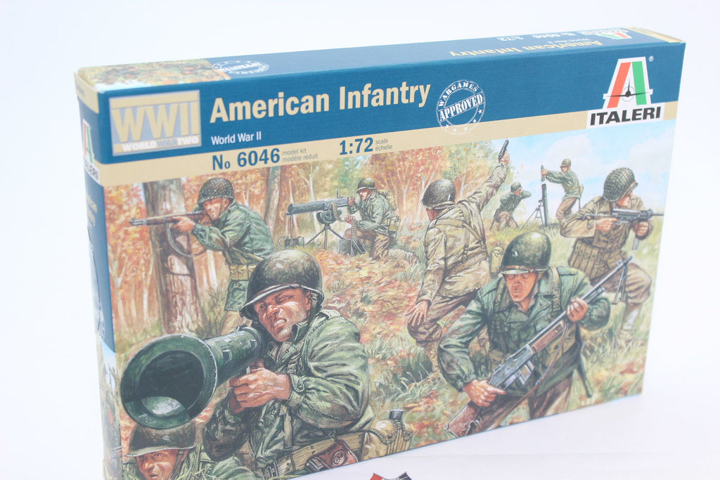 ITALERI 6046. AMERICAN INFANTRY - WORLD WAR II. WW2 1/72 SCALE