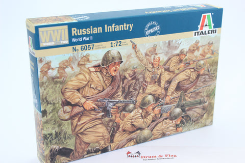 Italeri 6057  - Russian Infantry. WW2. 1/72 scale