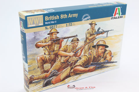Italeri 6077  - British 8th Army. The Desert Rats. WW2. 1/72 scale