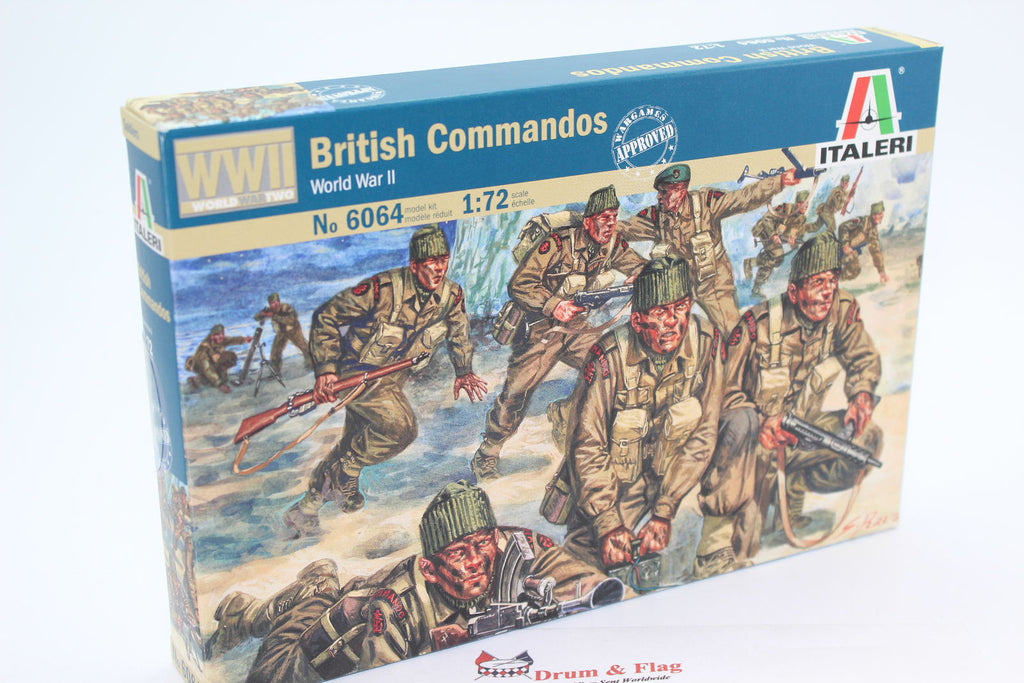 ITALERI 6064. BRITISH COMMANDOS - WORLD WAR II. WW2 1/72 SCALE