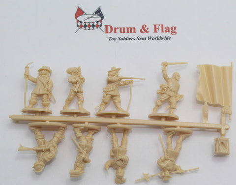 SINGLE SPRUE OF A CALL TO ARMS 62. ENGLISH CIVIL WAR COMMAND SET 1:72 SCALE PLASTIC FIGURES