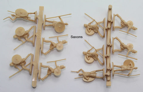 HaT Saxons x 12 figures on 2 loose sprues. No Box. 1/72 Scale Plastic