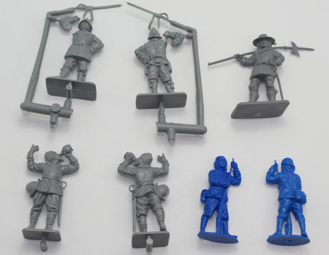 A Call to Arms - English Civil War Custom Mixed Set (7 Figures) - 54mm - 1/32 Scale