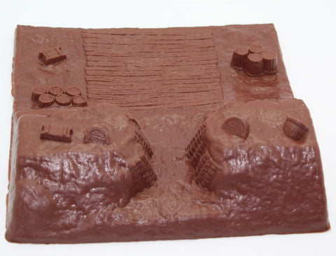 Americana. Gun Redoubt / Cannon Emplacement / Siege Works. Suitable for use with 54mm figures etc...