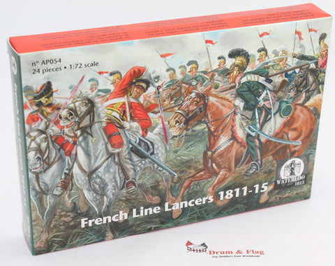 Waterloo 1815 AP054 - Napoleonic French Line Lancers. 1/72 Scale. 12 Figures