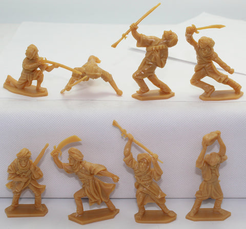 Timpo / Lonestar Reissues - Afghans x 8 figures - 54mm - 1/32 scale