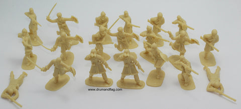 NO BOX - ARMIES IN PLASTIC #5462 - AFGHAN TRIBESMEN - NORTHWEST FRONTIER 1890 - 1/32 SCALE. SANDY COLOUR PLASTIC