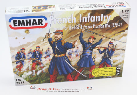EMHAR 7211 FRENCH INFANTRY. FRANCO-PRUSSIAN WAR. CRIMEAN WAR 1:72 SCALE