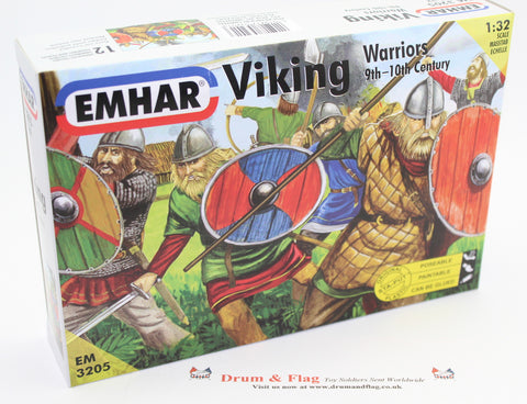 USED SET - EMHAR 3205. VIKING WARRIORS. 9TH - 10TH CENTURY. 1/32 scale VIKINGS